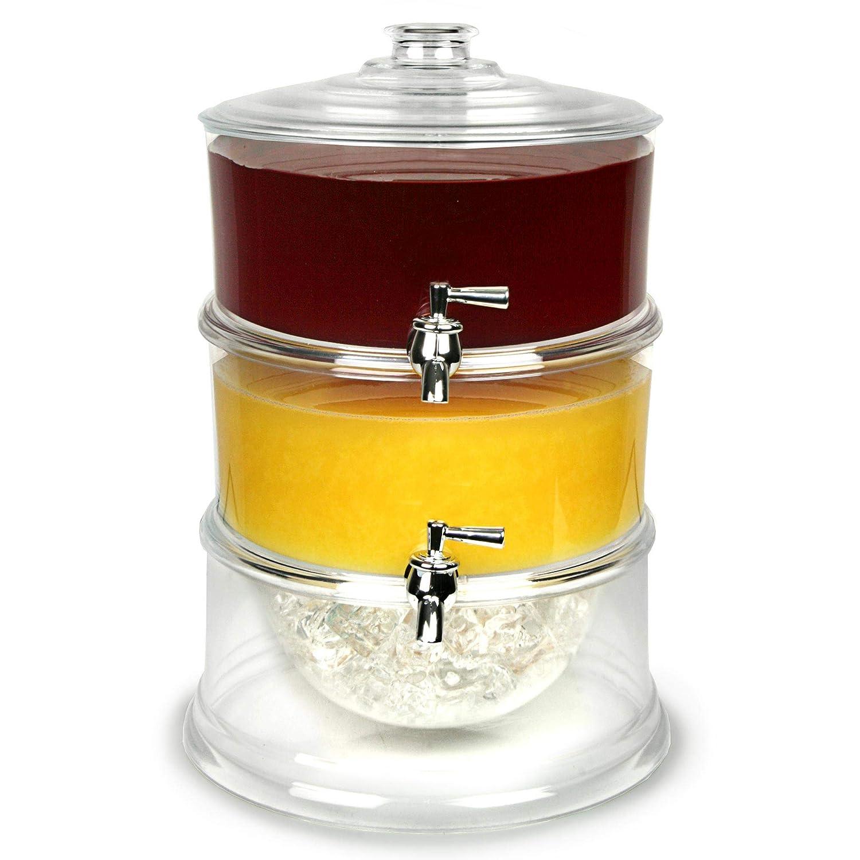 dispensador de jugo limonada Bar@Drinkstuff Dispensador de la bebida de 3 niveles 10.5ltr con gradas bebidas dispensador dispensador de punch