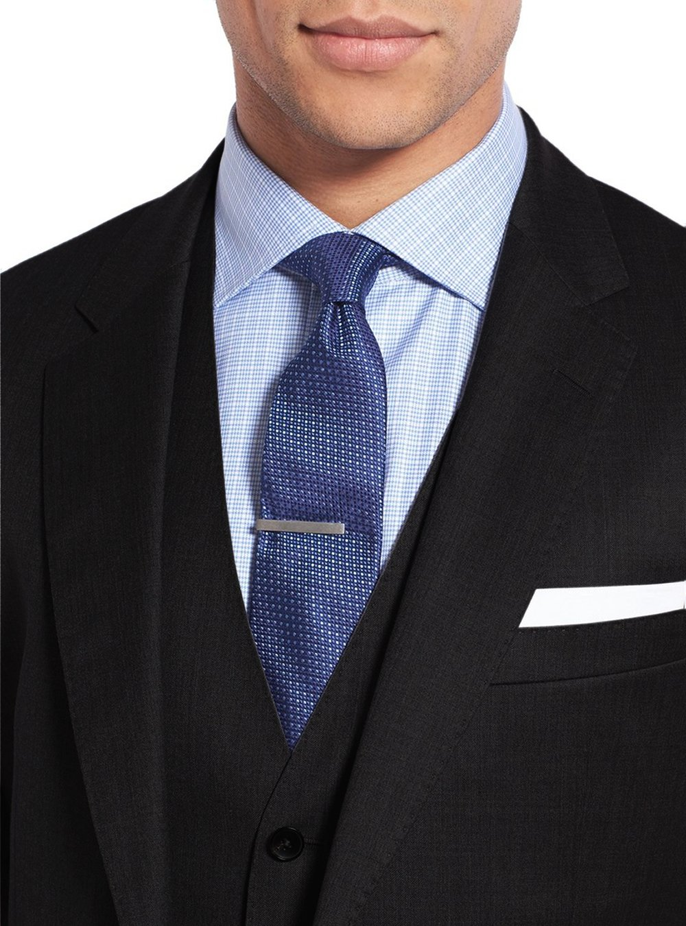 Salvatore Exte Men's 3-piece Suit Set Two Button Blazer Jacket Pants Tux Vest (40 Short US / 50S EU / W 34'', Black) by Salvatore Exte (Image #4)