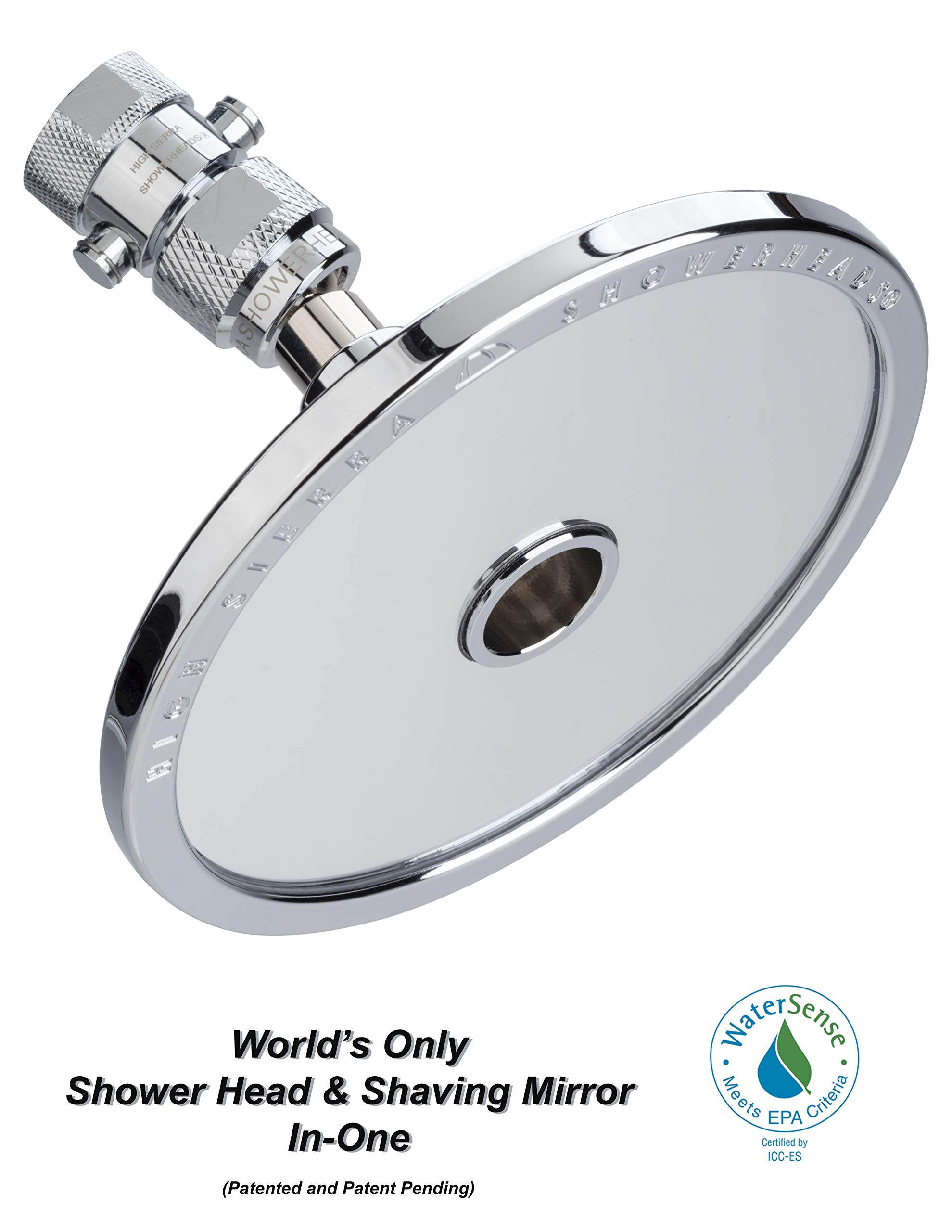 High Sierra's NEW ''Reflections'' Shower Head and Fogless Shaving Mirror In One. Made of Solid Aluminum that Naturally Heats Up While Showering. Guaranteed to Never Fog! by High Sierra Showerheads (Image #3)