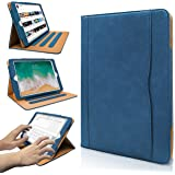 Hansong iPad 9.7 2017/2018 case - Leather Multiple Card Pocket Stand Case with Auto Sleep/Wake Up Viewing Angles Stand Folio Design for Apple iPad 9.7 inch 2017/2018 Air/Air 2 - Navy
