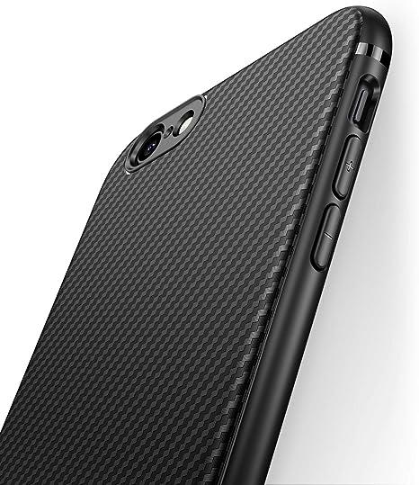 J Jecent Funda iPhone 6 Funda iPhone 6s [Textura Fibra de Carbono] Carcasa Ligera Silicona Suave TPU Gel Bumper Case Cover de Protección Antideslizante [Anti-Rasguño] [ Anti-Golpes] Caso: Amazon.es: Electrónica