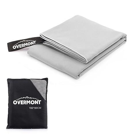 Overmont Toalla Deportiva Secado rápido de Microfibra Super Absorbente, Ideal para Deportes, Viajes,