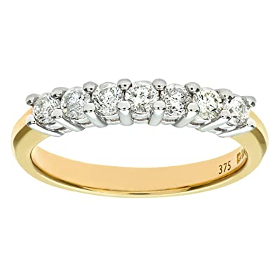 Naava 9ct Yellow Gold Ladies Diamond Ring m1Lyj
