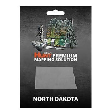 Amazoncom OnXmaps HUNT North Dakota Digital Hunting Map For - Nd land ownership map