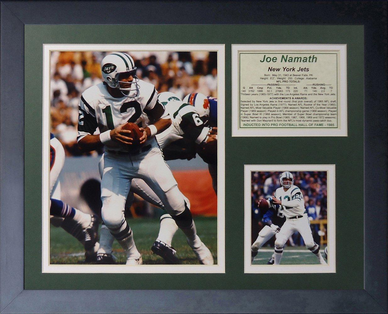 11 x 14-Inch Legends Never Die Joe Namath Home Framed Photo Collage