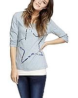 Comma CI Damen T-Shirt 88.311.39.2806 3/4 ARM, Rundhals Regular Fit