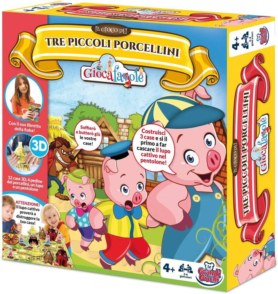 Grandi Giochi gg90202 – Juegos de Caja I 3 cerditos: Amazon.es: Juguetes y juegos