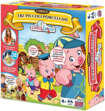 Grandi Giochi gg90202 – Juegos de Caja I 3 cerditos: Amazon.es ...