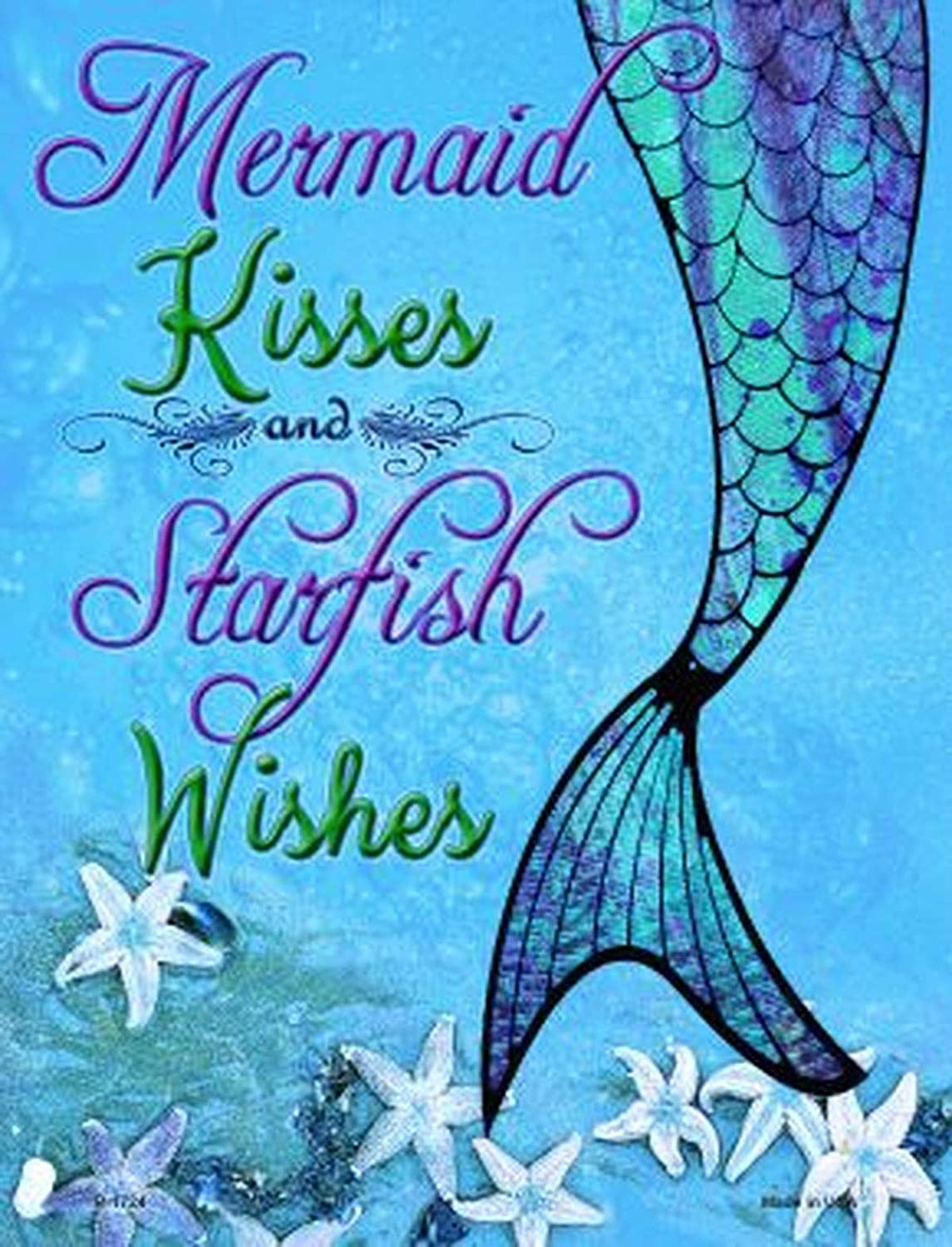 Mermaid kisses starfish wishes,excellent condition,never used,measures 12H 9.25 circumstance,cork bottle with lights,uses 2 AA batteries