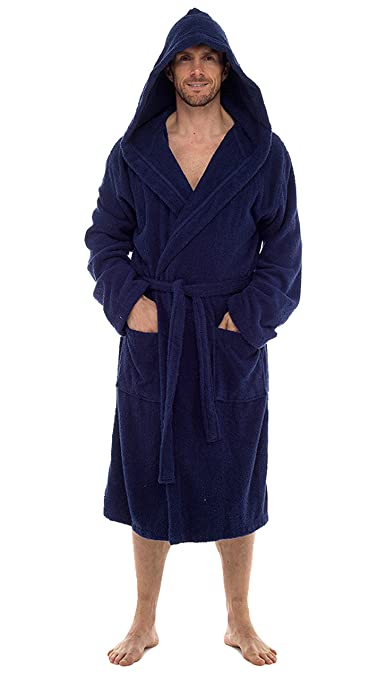 INSIGNIA Mens Luxury 100% Cotton Towelling Bath Robe Dressing Gown ...