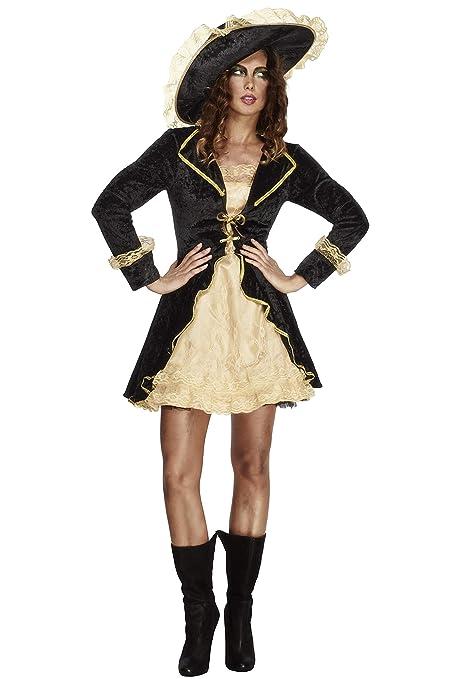 Smiffys - Disfraz de Pirata Barroco para Mujer, Talla M (353895)