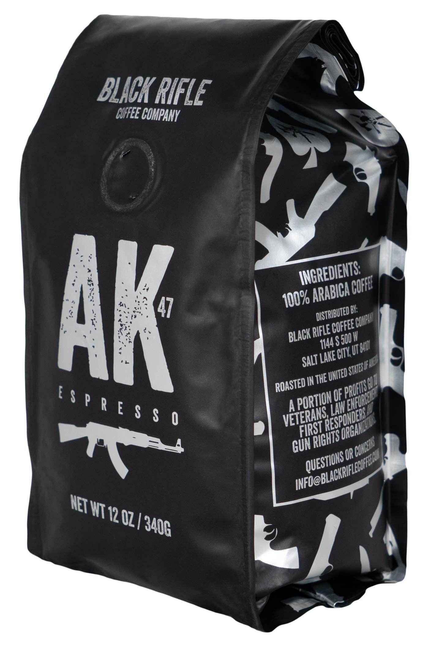 Black Rifle Coffee Company AK-47 Coffee, Medium Roast, Ground, 12 Ounce Bag