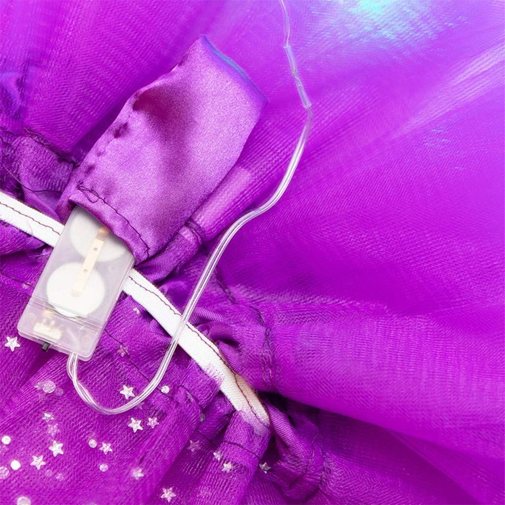 Women Girls Tutu Neon, LED Dance Tutu Skirt Pleated, Layered Tulle Light Up Short Dress, Lisanl Brown