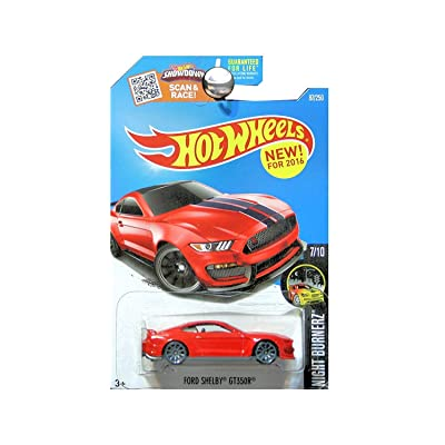 Hot Wheels 2016 Night Burnerz Ford Shelby GT350R 87/250, Red: Toys & Games