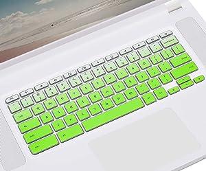 CASEDAO Acer Chromebook Keyboard Cover 15.6 inch for Acer Chromebook 15 315 CB315 CP315 CB515 CB3-531 CB3-532 CB5-571 C910, Acer Chromebook 15 Keyboard Protective Skin - Gradual Green