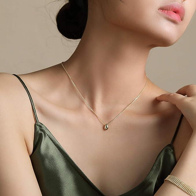 精致典雅的水滴项链,简单就是美
