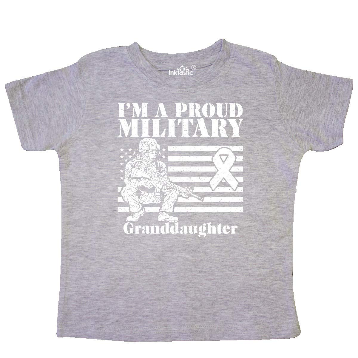 inktastic Proud Military Granddaughter Red Friday Toddler T-Shirt