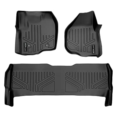 MAX LINER A0116/B0042 for 2012-2016 F-250/F-350/F-450 Super Duty Crew Cab with Raised Drivers Side Pedal, Black: Automotive