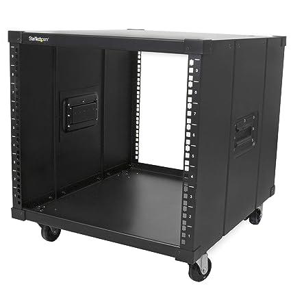 Startech Com Portable Server Rack With Handles Rolling Cabinet 9u Rk960cp