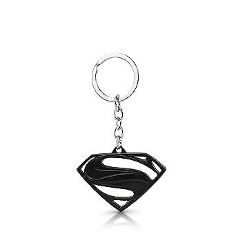 three shades superman logo metal black keychain black superman logo