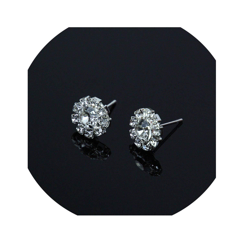 Wedding Jewelry Design Crystal Rhinestone Stud Earrings Luxury Gift To Women