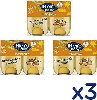 Hero Baby - Babymerienda Frutas Varia Galleta Fruta variada 380 gr - Pack de 3 (Total 1140 grams): Amazon.es: Alimentación y bebidas