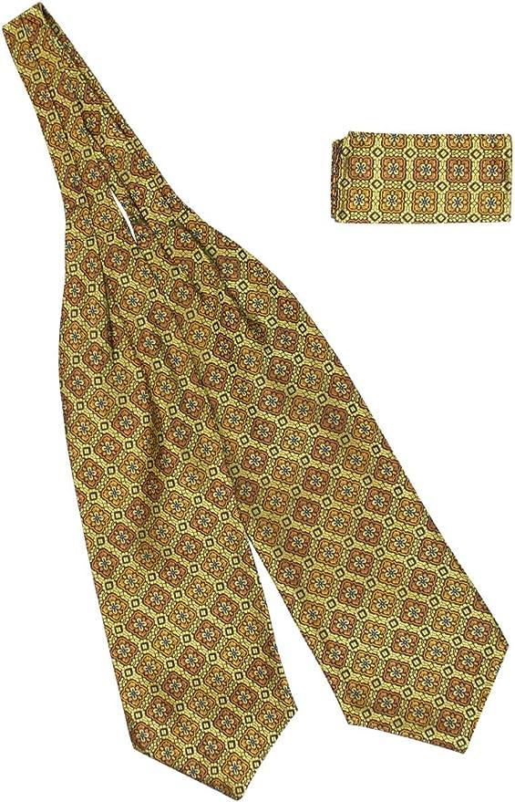 Victorian Mens Ties, Ascot, Cravat, Bow Tie, Necktie Historical Emporium Mens Satin Geometric Medallion Ascot $28.95 AT vintagedancer.com