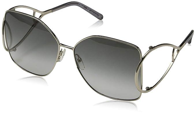 Chloé Ce135S 744 63, Gafas de sol para Mujer, Gold/Grey ...