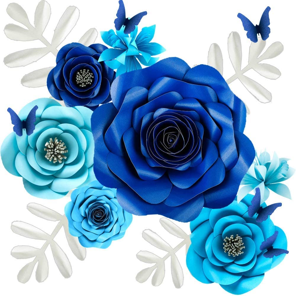 Amazon.com: Paper Flowers Decorations For Wall, Large 5D Artificial Fake Flower Wall Art Decor Baby Girl Boy Nursery Room, Bridal Shower, Wedding Centerpiece, Party Backdrop(12inch,17Pack): Kitchen & Dining
