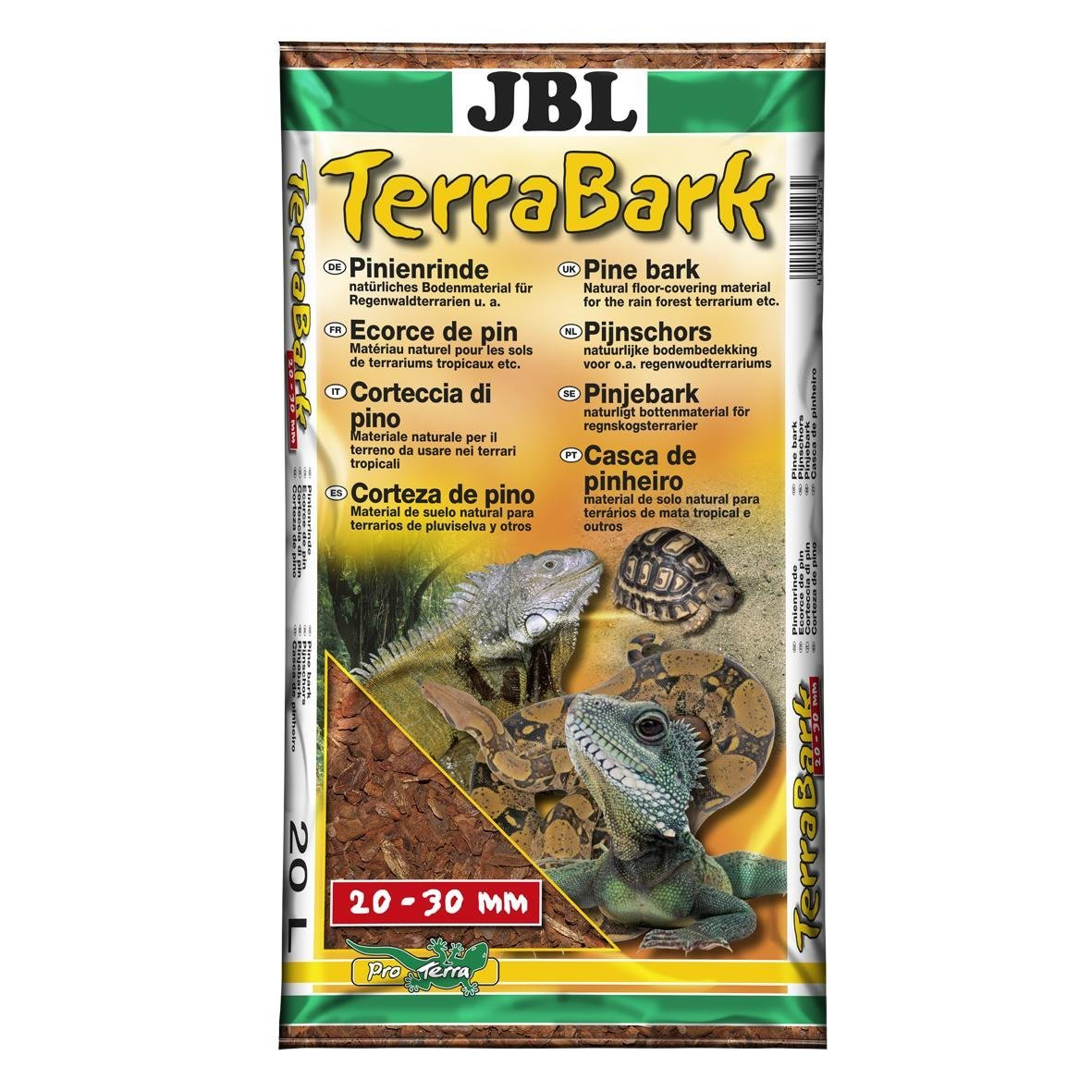 JBL TerraBark S 2-10mm 20l, Substrat de sol pour terrarium subtropical ou tropical 7102400 18857