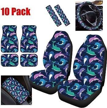 Amazon Com Showudesigns Cute Car Seat Covers Full Set Of 10pc