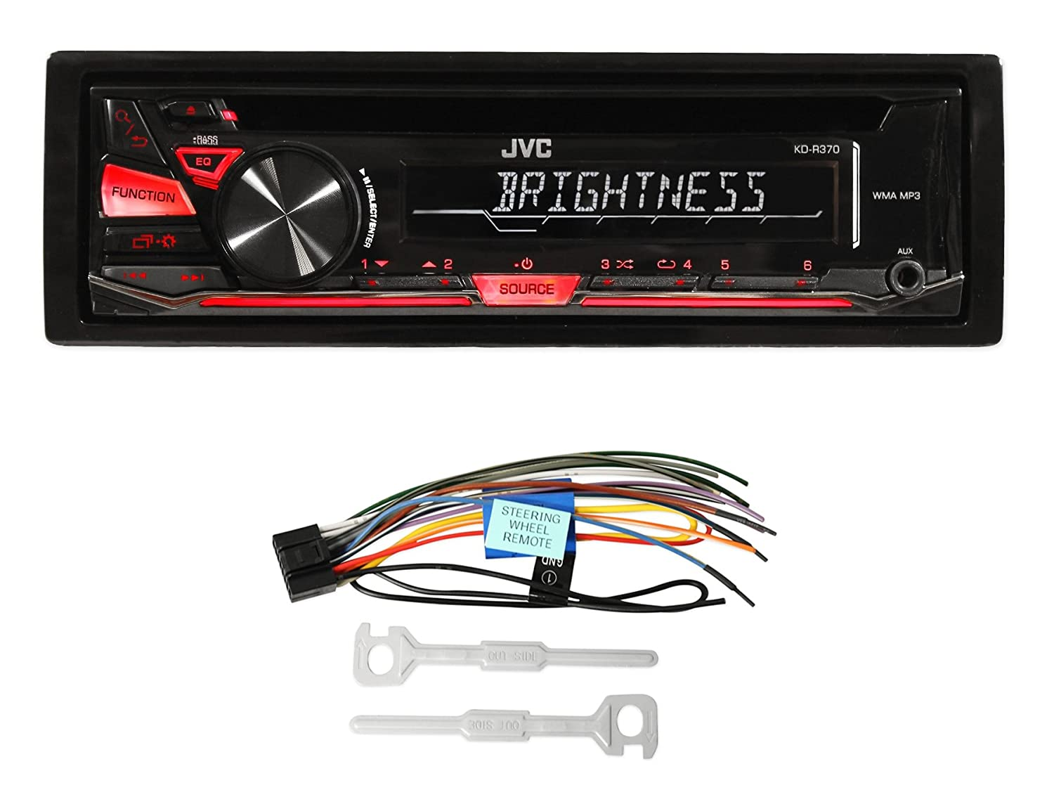 Jvc Stereo Cd Player Radio Kicker Speakers Full Install Chrysler Din Wiring For Pins 97 02 Jeep Wrangler Automotive