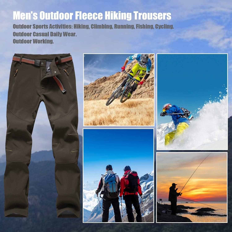 Veste Polaire Homme Grande Taille S-3XL en Molleton Chaud Hiver pour Travail Sport Randonn/ée Camping Alpinisme