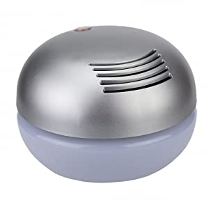EcoGecko Classic Gecko Air Washer & Revitalizer, Aroma Globe with Lavender Oil, Silver