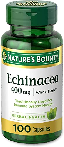 Echinacea by Nature s Bounty, 400mg Echinacea Capsules for Immune Support, 100 Capsules