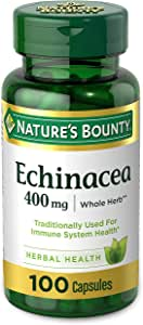Echinacea by Nature's Bounty, Herbal Supplement, Supports Immune Health, 400mg, 100 Capsules