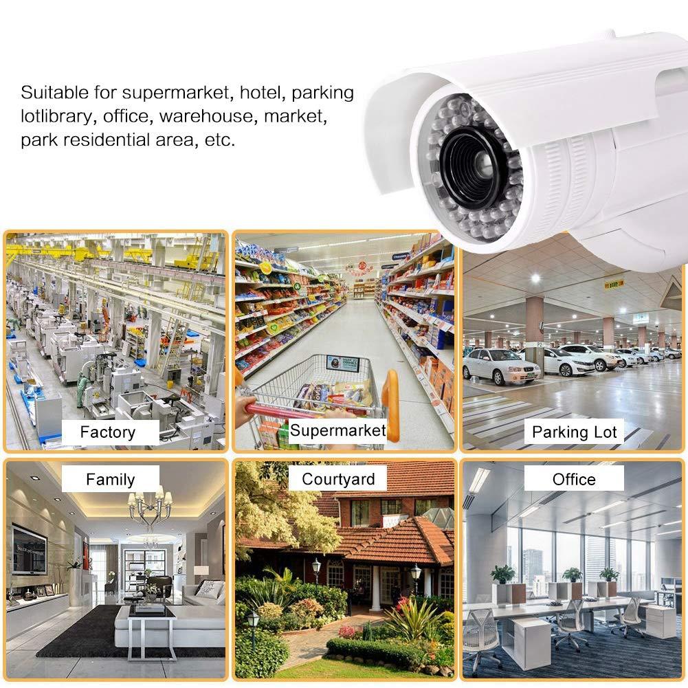 C/ámara simulada Monitor de simulaci/ón LED C/ámara inal/ámbrica de Seguridad en el hogar C/ámara de Video simulada C/ámara de vigilancia para Exteriores C/ámara de Seguridad Falsa