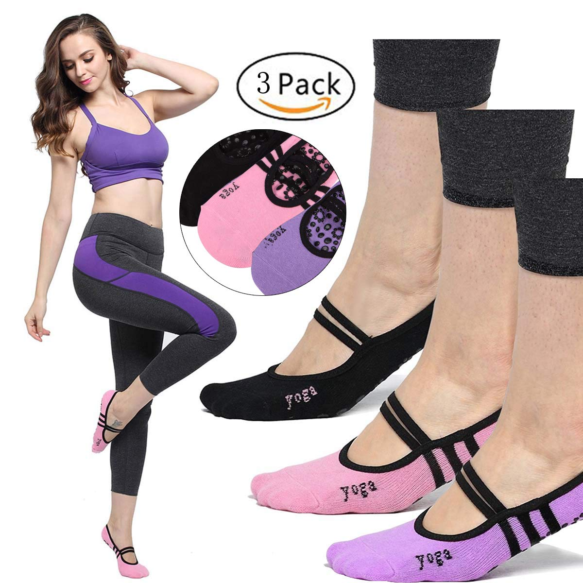 e04a0ab75d Imported 100% Cotton ✅USE THEM IN ALL WALKS OF LIFE - Run,jump, play, and  do anything in great comfort with LIBRUONE Socks. Great for Yoga practice,  ...