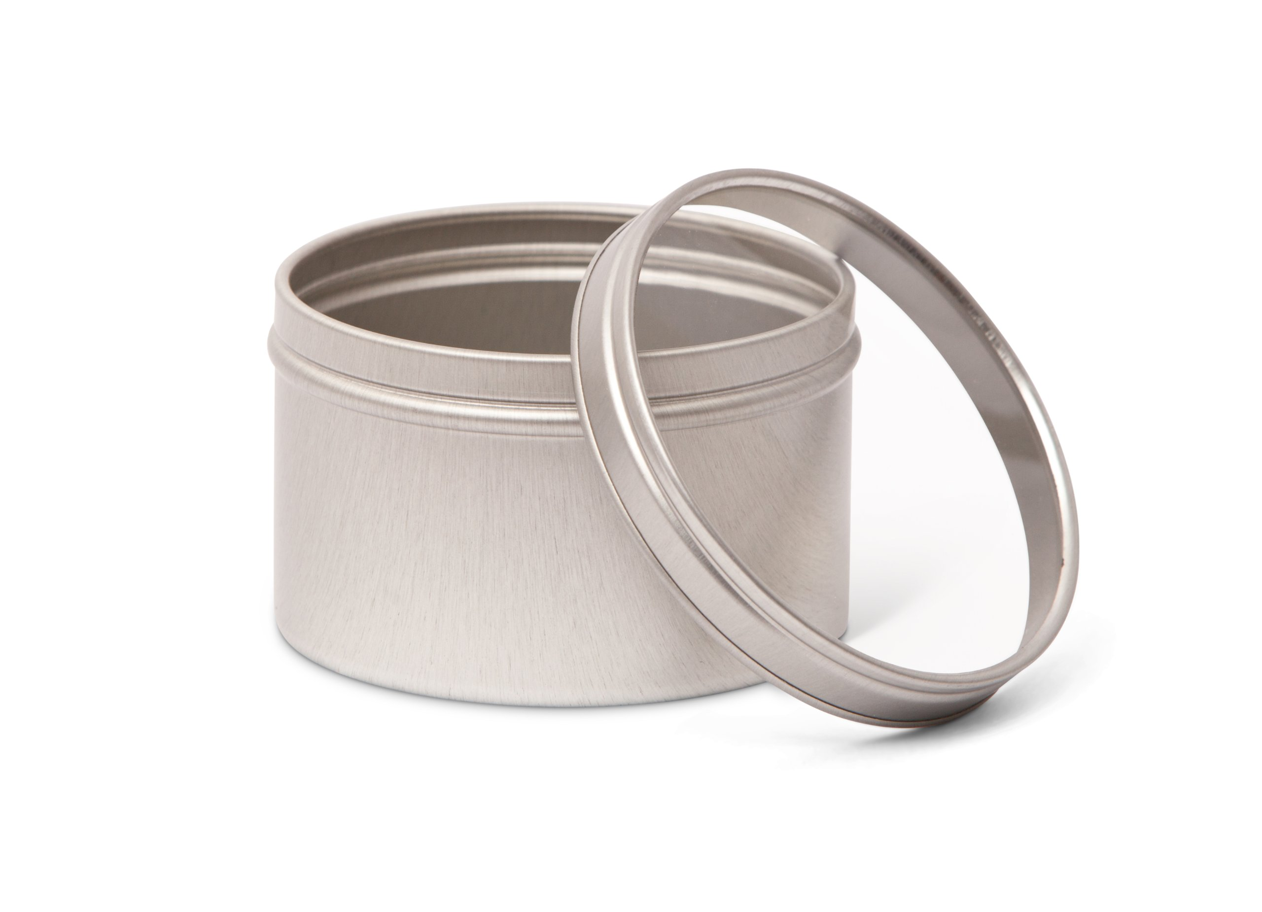 Pacific Bag 200-260SW Specialty Tins, 80 mm, Silver with Window Lid (Case of 108)