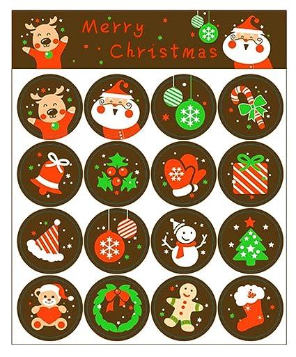 amazon com 160pcs christmas sticker xmas elements self adhesive