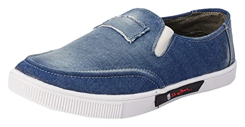 a8cb4770983 foot n style Men s Blue Denim Sneakers Casual Shoes  Amazon.in ...