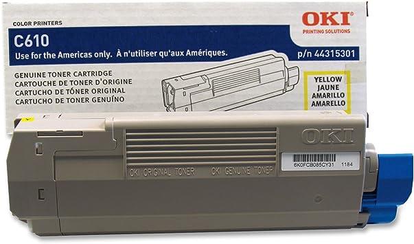 Yellow Toner Cartridge Genuine Okidata 44315301 Type C15