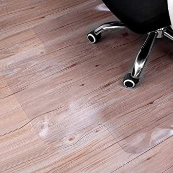 Amazon Com Sturdy Desk Chair Mat For Hardwood Floors Transparent