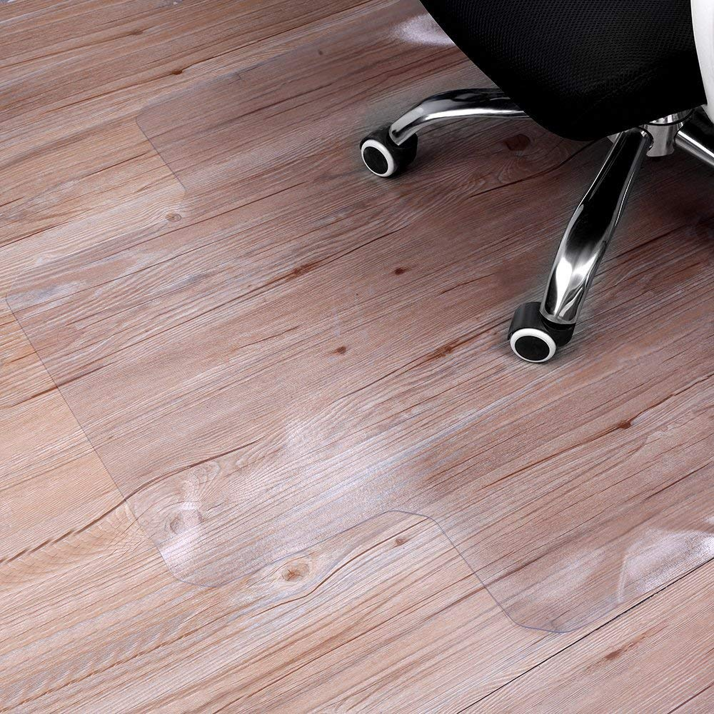 "Sturdy Desk Chair Mat for Hardwood Floors Transparent Non Slip Premium Quality Floor Mat 36"" X 48"""