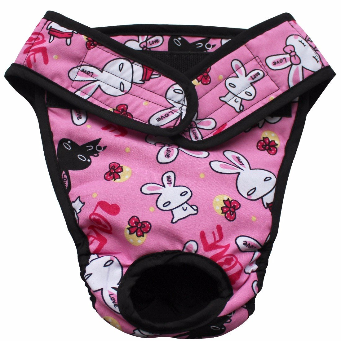 FEESHOW Large Big Dog Breeds Reusable Washable Diaper SZ S-XL Pink Large