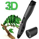 Penna 3D, Kozy Life Penna 3D Professionale Penna Stampa 3D con 3 Filamento PLA, Strumento per Pala, Sacchetto di Stoccaggio in Velluto Nero, Compatibile con Filamento PLA / ABS