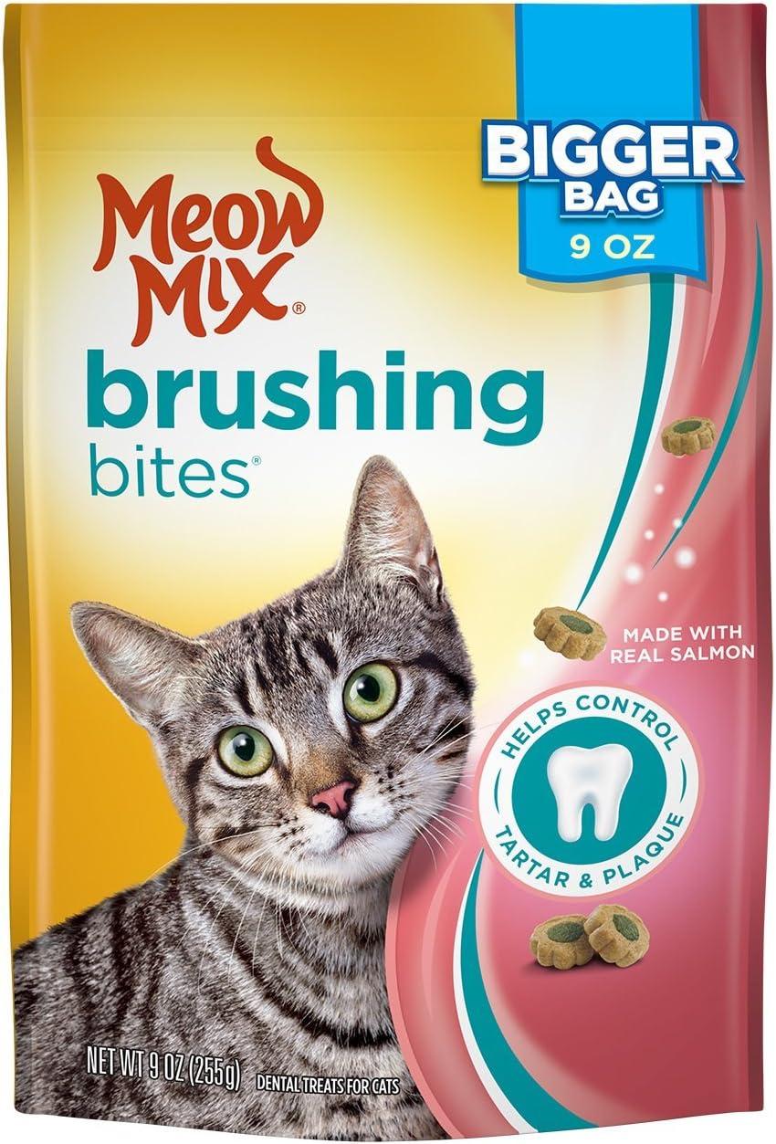 Meow Mix Brushing Bites Cat Dental Treats Made