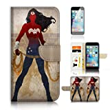 ( For iPhone 6 6S 4.7') Flip Wallet Case Cover and