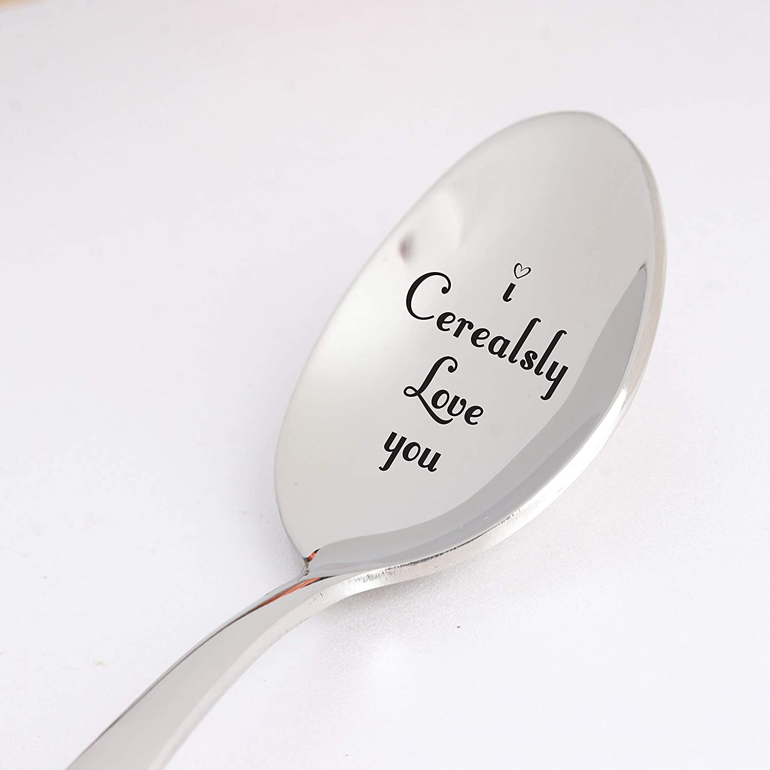 I Cerealsly Love You Spoon Gift for Sister Holiday Gift Idea for Men Women Funny Gifts for Husband Christmas Gift for Cereal Lovers 7 Inch Stainless Steel Spoon Gift for Dad Grandparent Mom