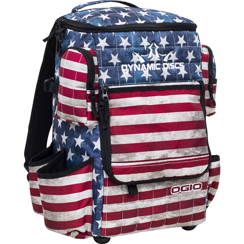 Dynamic Discs Ranger Backpack Disc Golf Bag - Holds Over 20 Discs (Stars and Stripes) by Dynamic Discs